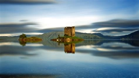 High Definition Landscape Wallpaper Castle Stalker Scotland Hd Wallpaper Wallpaperfx
