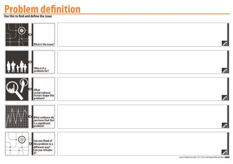 Template Definition Problem Definition Template Purpose To Narrow From