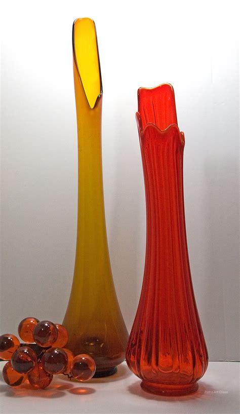 Glass Floor Vases by Retro Glass Floor Vase In Retro Glass