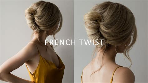 french roll updo hairstyle perfect  prom weddings work youtube