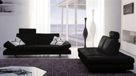 Bentley Sofas by Bentley Black Top Grain Leather Modern Sofa Set With