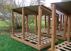 plans to build a firewood storage shed Online