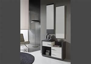 Meuble Avec Miroir : acheter votre meuble d 39 entr e avec miroir chez simeuble ~ Teatrodelosmanantiales.com Idées de Décoration