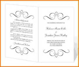 sle wedding program wedding program templates free printable wedding invitation ideas