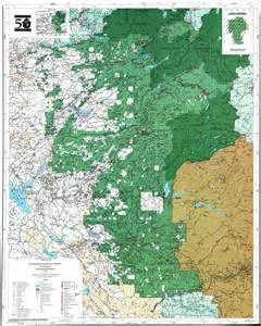 Stanislaus National Forest Map