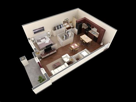 25 One Bedroom Houseapartment Plans by 25 One Bedroom House Apartment Plans