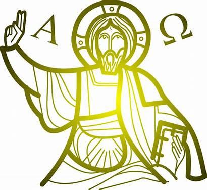 Jesus Alpha Christ Pantocrator Clipart Omega Christian