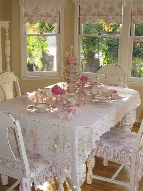 shabby chic dining room table pinterest