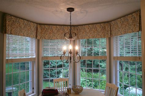 Kitchen Curtain Ideas For Bay Window by Bay Window Valance Box Pleated Valance To Tie 4 Windows