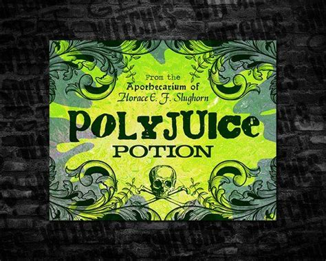 wizarding polyjuice potion large printable label