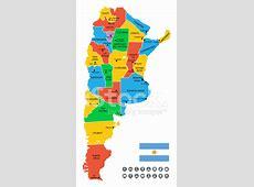Detailed Vector Map of Argentina stock photos FreeImagescom