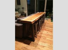 Cedar heartwood slab 3 day project from timber to bar