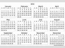 2016 Calendar Download