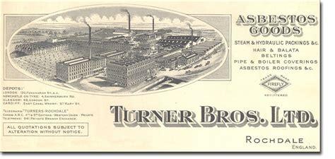 turner brothers limited asbestos billhead asbestorama