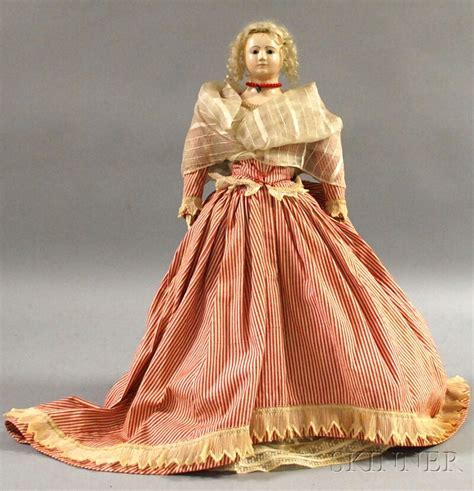 early french type papier mache doll sale number