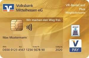 bankkarte girocard volksbank mittelhessen