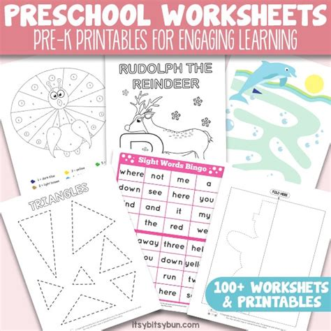 preschool worksheets pre k printables for engaging learning itsy bitsy fun