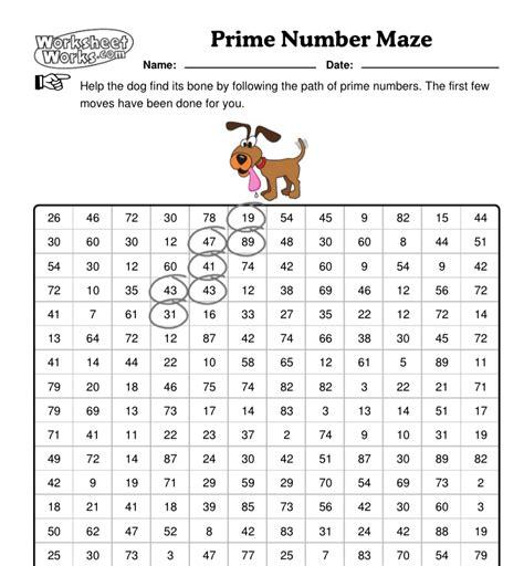 prime numbers worksheet the best worksheets image