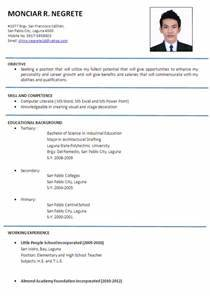 Wel e to KiKi s blog Sample Resume format examples