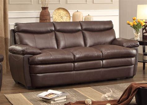 Rozel Dark Brown Sofa From Homelegance (8428-3)