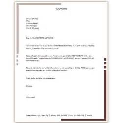 Cover Letter Template Microsoft Word Free Microsoft Word Cover Letter Templates Letterhead And Fax Cover