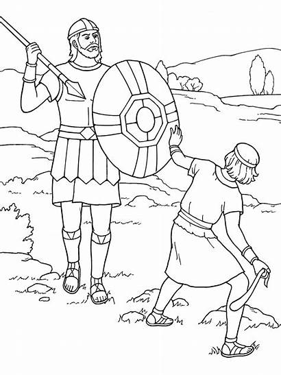 Goliath David Coloring Stories Scripture Symbols