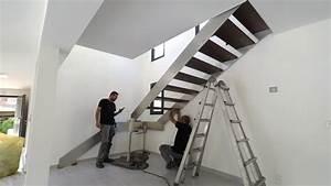Garde Corp Escalier : montage escalier inox design avec garde corps verre youtube ~ Dallasstarsshop.com Idées de Décoration