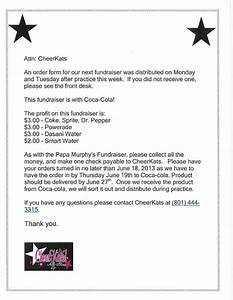Coca Cola Fundraiser Order Form Cheerkats All Stars June 2013