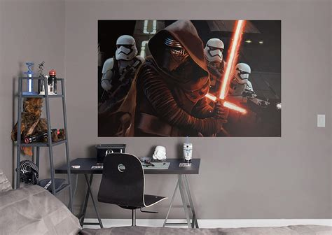 kylo ren siege mural wall decal shop fathead 174 for wars decor