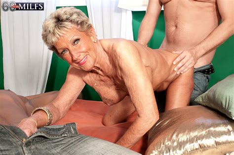 Double Stuffed Blond Granny Sandra