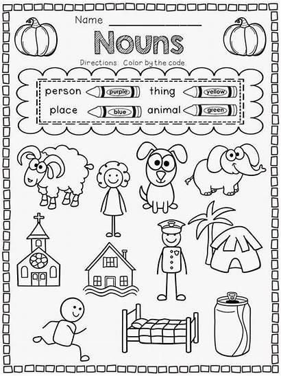 Worksheets Kindergarten Nouns Worksheet Printable Language Pdf
