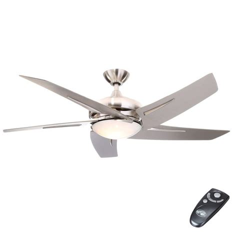 remote control for ceiling fan and light hton bay sidewinder 54 in indoor brushed nickel