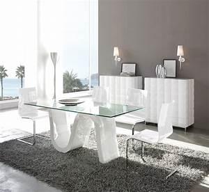 javascript est desactive dans votre navigateur With salle À manger contemporaine avec table en verre extensible conforama