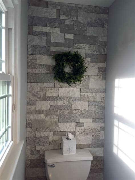 airstone bathroom accent wall  kelly homestead