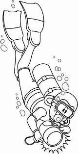 Scuba Diver Diving Sea Drawing Coloring Pages Clipart Sketch Under Underwater Deep Crafts Mermaid Ocean Bmp Printable Drawings Preschool Painting sketch template