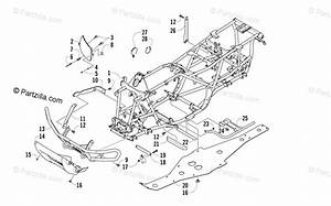 Arctic Cat Atv 2005 Oem Parts Diagram For Frame And