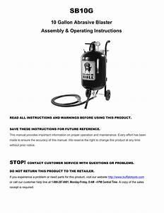 Black Bull Sb10g Use And Care Manual
