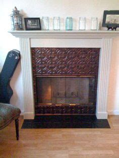 tin tile fireplace surround ceiling tile ideas