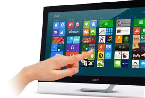 pc bureau ecran tactile acer 27 quot led tactile t272hlbmjjz touch um ht2ee 005