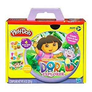 play doh nickelodeon dora the explorer playset amazon ca
