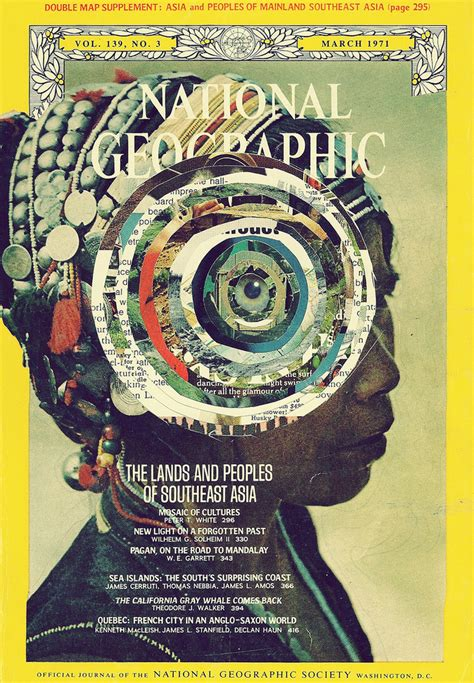 Old National Geographic Magazines Collages by Caroline