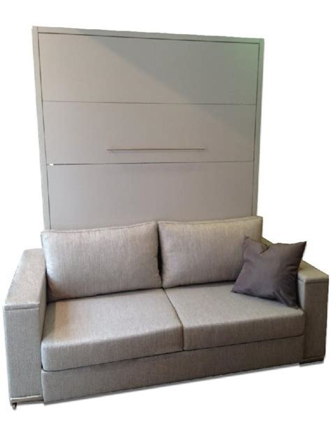 armoire lit escamotable lyon canape integre couchage 160