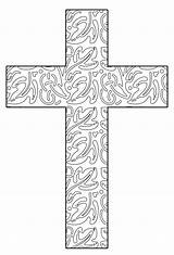 Coloring Pages Printable Cross Adult Easter Colouring Abstract Sheets Crosses Glass Drawings Christian Templates Stained Leaves Books Religious Ausmalen Hubpages sketch template