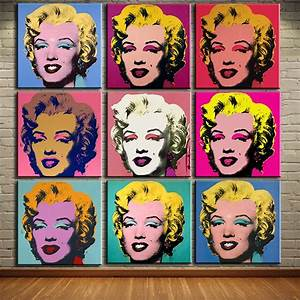 Andy Warhol Pop Art : dp artisan andy warhol 9pcs marilyn monroe wall art oil ~ A.2002-acura-tl-radio.info Haus und Dekorationen