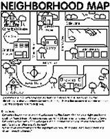 Coloring Pages Neighborhood Map Crayola Colouring sketch template