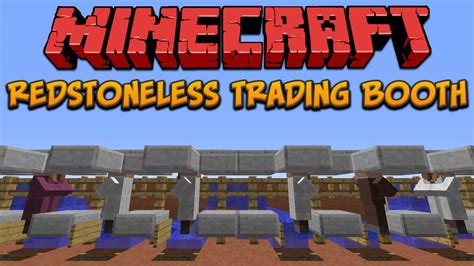 Minecraft Redstoneless Villager Trading Booth Youtube