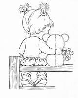 Coloring Embroidery Teddy Pintura Dibujos Bear Desenhos Riscos Stamps Fraldas Colouring Colorear Tecido Infantil Patterns Dessin Ausmalbilder Colorier Coloriage Rabisco sketch template
