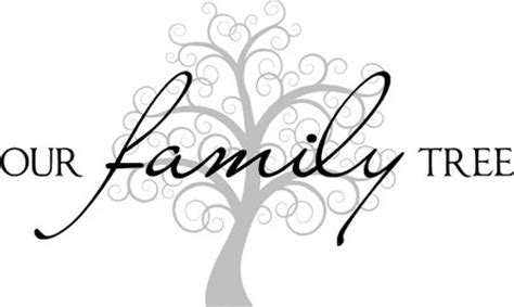 quot our family tree quot vinyl lettering wall home decor sticker decal