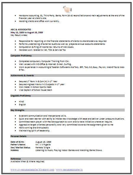 Standard Resume Format by Best 25 Standard Resume Format Ideas On
