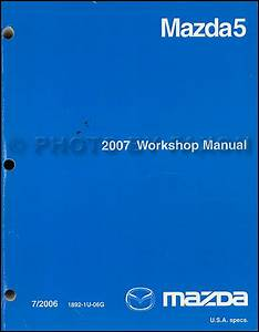 2007 Mazda 5 Wiring Diagram Manual Original
